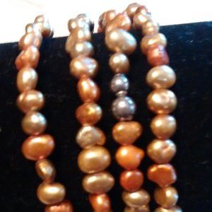 Silpada copper tone stretch bracelets